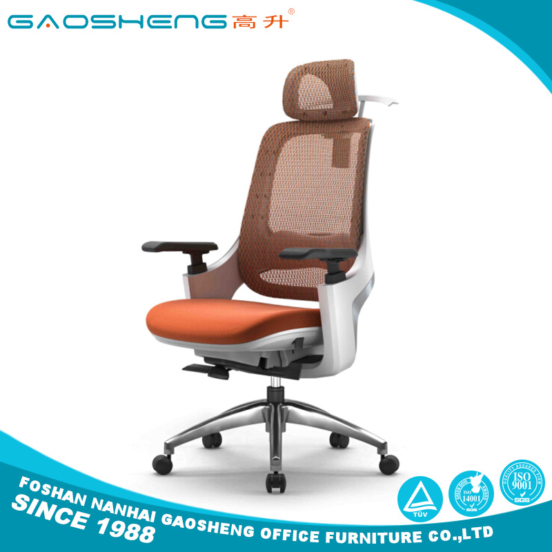 Modern high back luxury executive mesh office chair with headrest