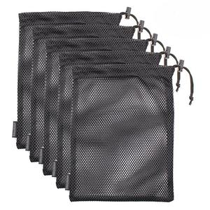 Water resistant 210d drawstring ripstop foldable nylon mesh shopping bag