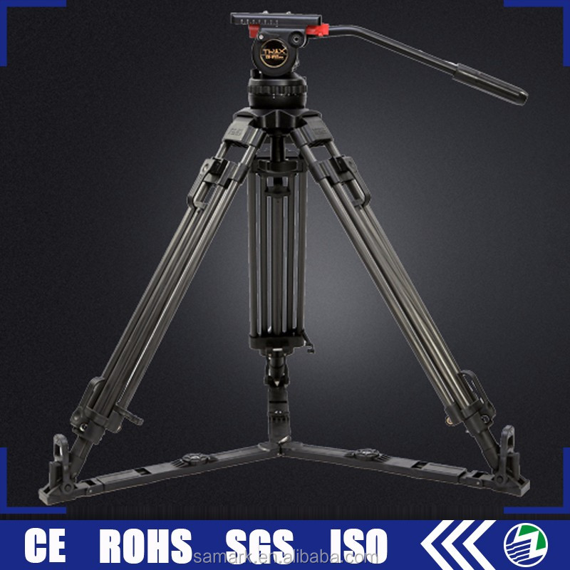 Guangdong manufacturers wholesale fluid head carbon fiber professional video camera tripod