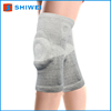 Soft and comfortable bamboo fiber knee sleeve with silicone and spring