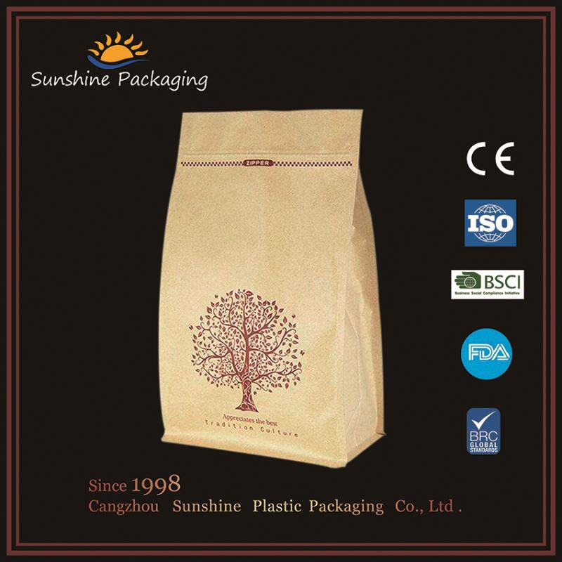 Eco friendly vitamin glucose packaging bag with zipper with printing