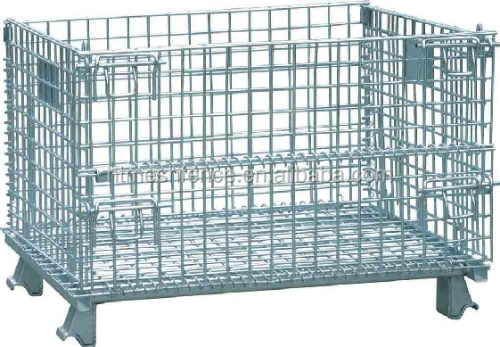 Wire Mesh Storage Bo | Storage Container Stacking Metal Turnover Storage Box Industry