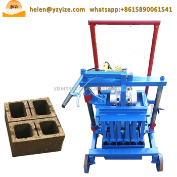 Manual Hollow Concrete Block Making Machine For Sale In