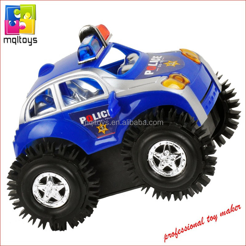 Toy Cars That Flip Over : Rolling battery operated toy vehicle flip over police car