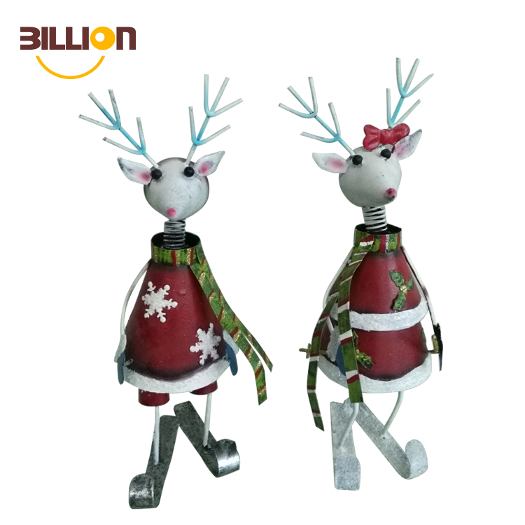 2 Styles Home Metal Christmas Reindeer Decoration