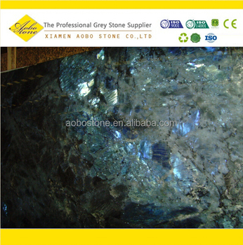Madagascar Labradorite Lemurian Blue Granite Slab For Sale