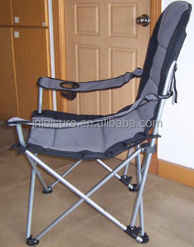 3 position outdoor reclining chair with oversized padded reclining camping chair foldable recliner chair - Outdoor Recliner Chair