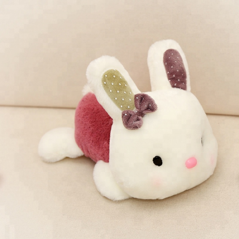 2018 new super soft cartoon cute rabbit short plush toy children cushion