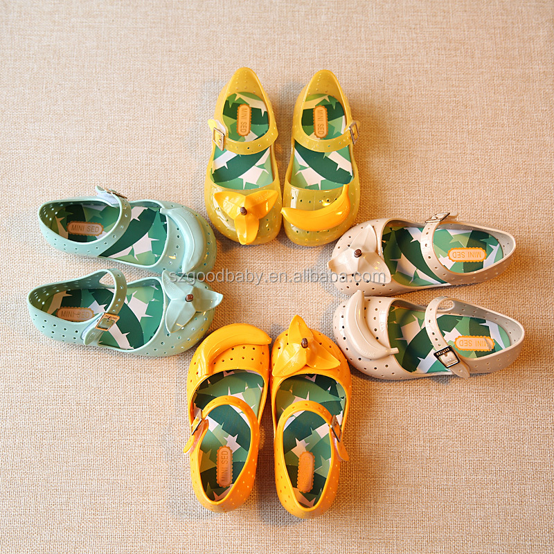 hot selling shoes 2013 girls baby girls flat sandals children pvc plastic jelly shoes