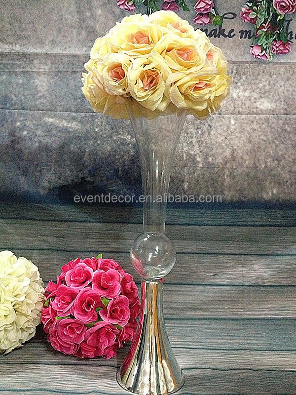 Clear Reversible Trumpet Glass Vase Flower Vase Wedding Centerpiece Buy Reversible Trumpet