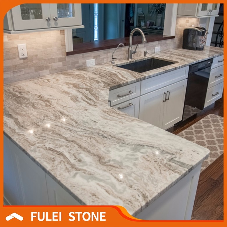 Pre Cut Indian Fantasy Brown Marble Granite Kitchen Countertops Lowes
