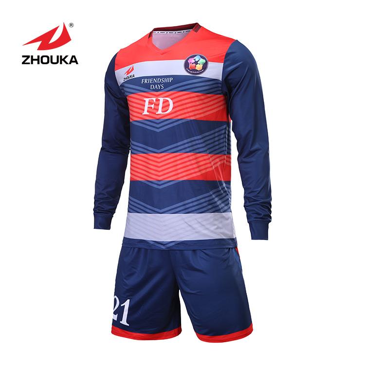 2020 Zhouka Classic Design Soccer Wear Goalkeeper Jersey Football Shirt