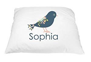 Personalized Kid's Royal Bird Pillowcase Microfiber Polyester 20 by 30 Inches, Bird Décor Pillow Cover, Nature Pillow, Bird Pillow Case, Nature Gift for Bird Lovers, Little Girl Bedroom Décor