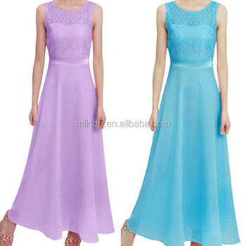 Simple Design Dresses Ladies Formal Sleeveless Lace Chiffon Bandage ...