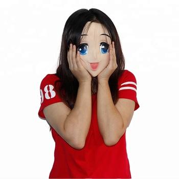 Halloween-Mask-Latex-Adult-Anime-Blue-Ey