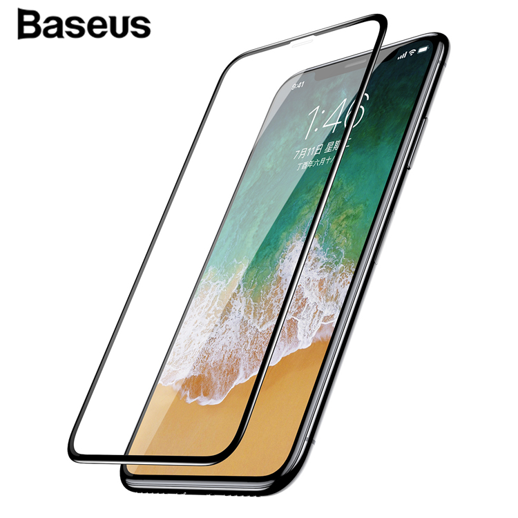 Baseus High Technology Certified Tempered Glass Screen Protector Schutzfolie für Ihr Handy für iPhone X