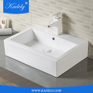 Low Profile Ceramic Bathroom Faucet Art Basin Vessel Vanity Sink