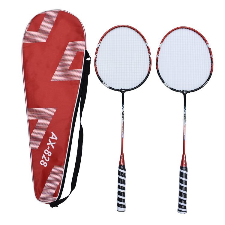 Indoor Outdoor Staal Badminton Racket Set Battledore voor Training