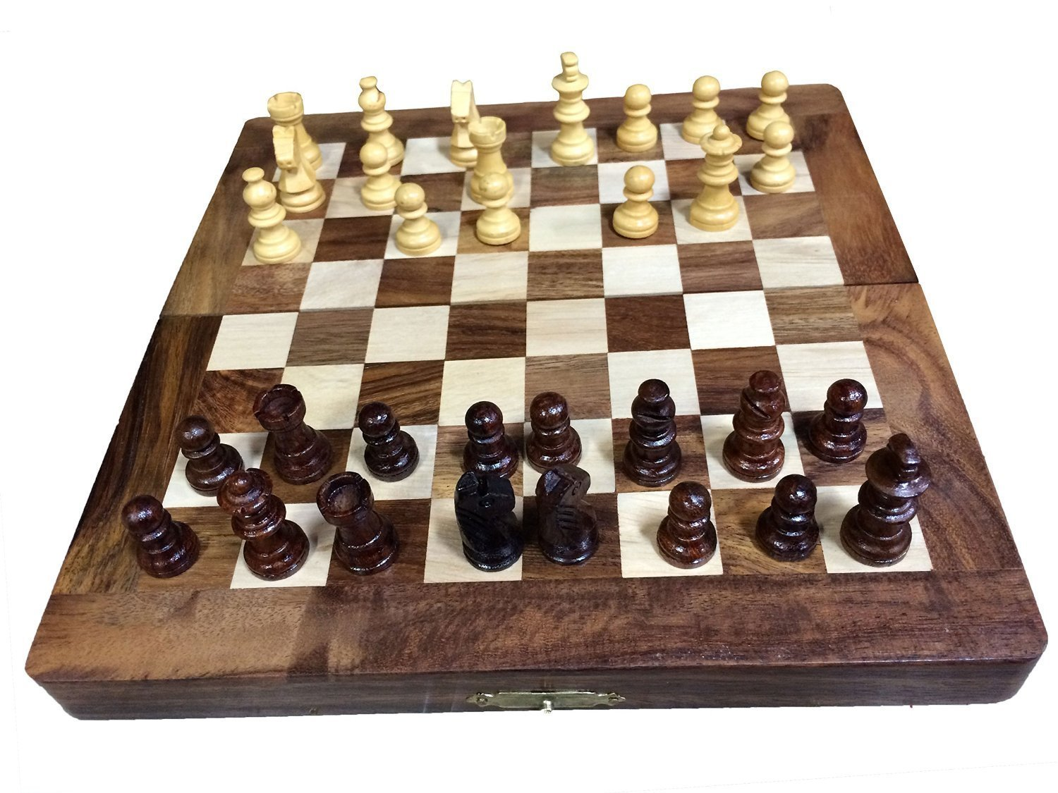 Get Quotations · Womens Day Special Gift,Wooden Classic Handmade Standard  12X12 Inch Folding Chess Board Set,