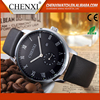 China Factory Business Classic Quartz Day/Date Mens Leather Strap Watches Brand