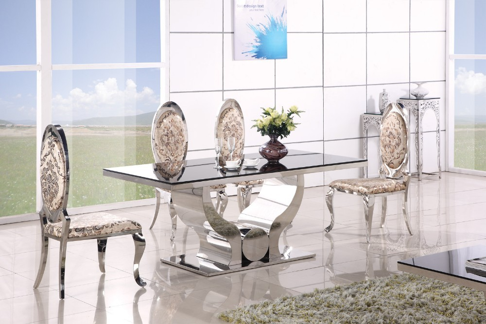 Mesa de comedor a8035 clásico. mesa comedor de vidrio templado con ...