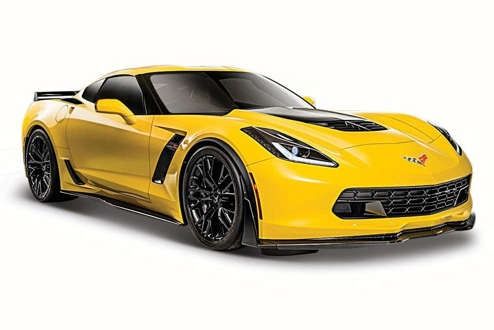 2015 Chevy Corvette Z06, Yellow - Maisto 31133 - 1/24 Scale Diecast Model Toy Car