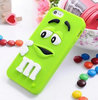 Lovely 3D cute M&M jelly Chocolate Bean Silicone Case for iphone 4 4s,50pcs.lot