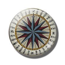 Стимпанк компас 30 мм, магнит на холодильник, туристическое стекло, кабошон, держатель для банкнот, магнитные наклейки на холодильник, украше...(Китай)