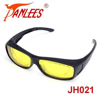 5217c38ed8 Panlees Clip on RX Insert Fit Over Glasses Sunglasses LensCovers Wear Over  Sunglasses For Men Night