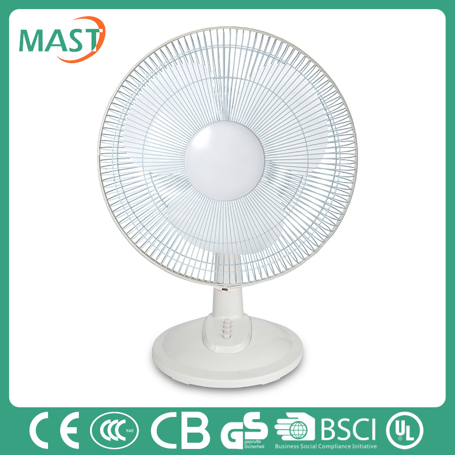 "good quality rechargeable 12"" mini size table cooling fan made in China"