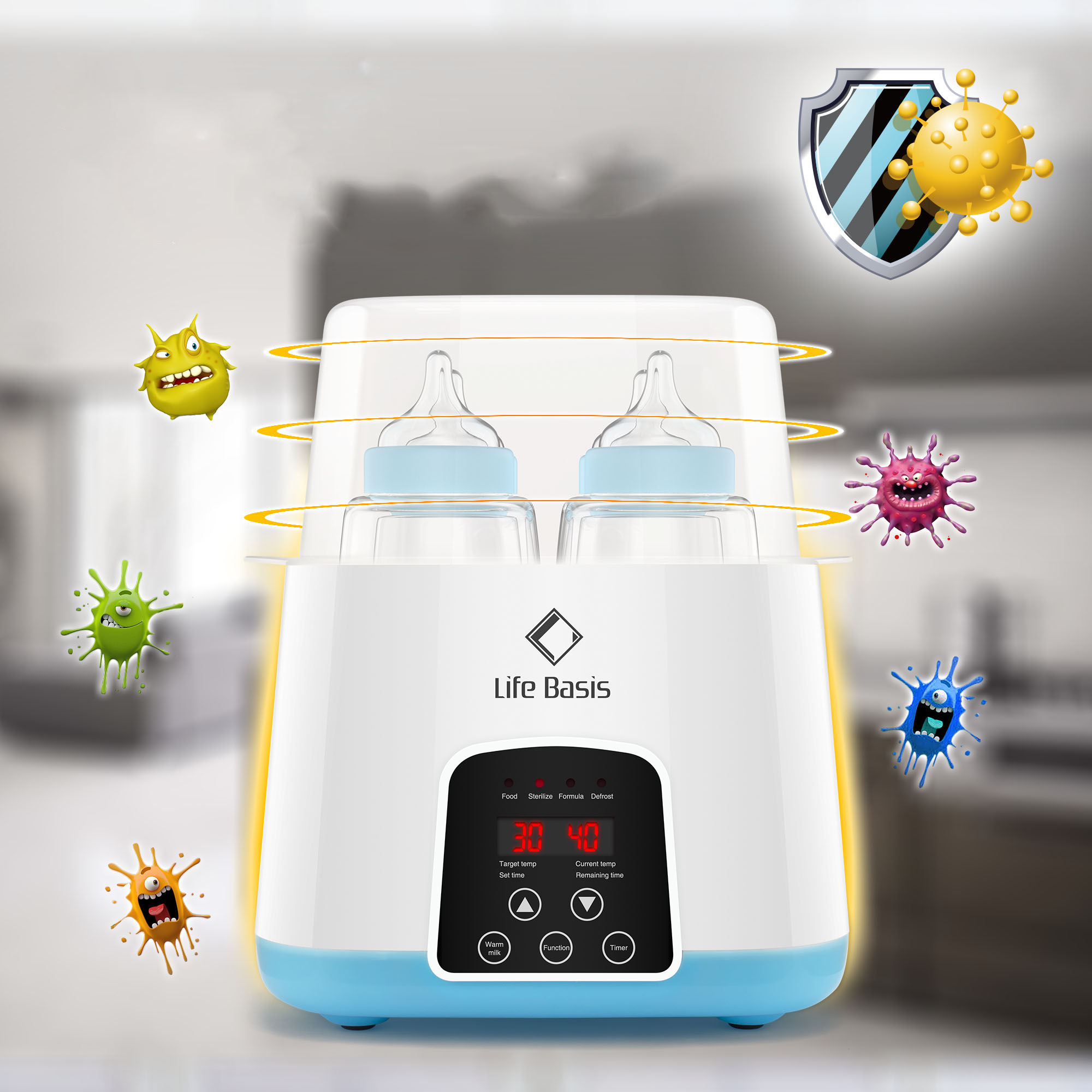 Double Bottle Multi-Function Automatic Baby Food Heating Warmer