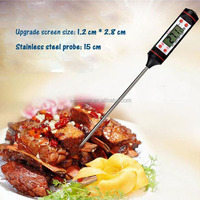 Digital Instant Read Cooking Thermometer for Food Meat BBQ Wine Jam Steak Candy (Black)