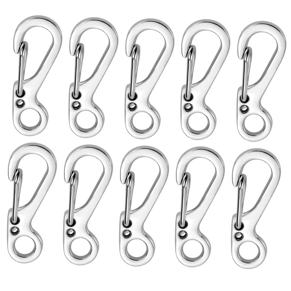 KUNSON 10PCS Mini SF Keychain Carabiners EDC Paracord Clips Clasps for Paracord Backpack Camping Bottle Outdoor Tactical Survival Gears Accessories Outdoor Recreation