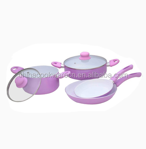 Polished Ustensil aluminum ceramic cookware set