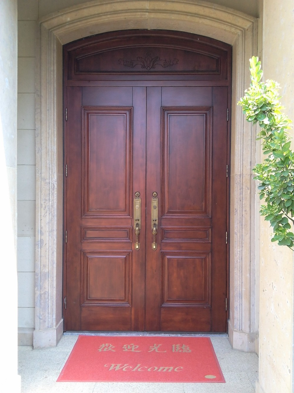 Factory wholesale exterior villa door for sale fancy wood for External front doors for sale