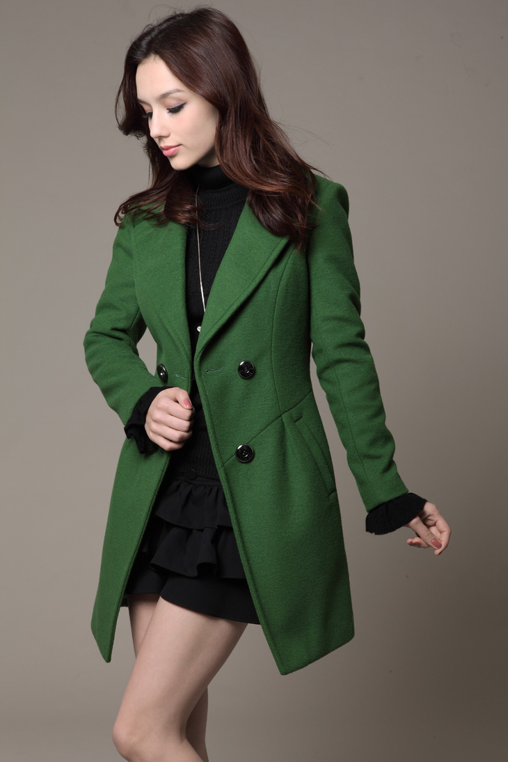 Long pea coat for women