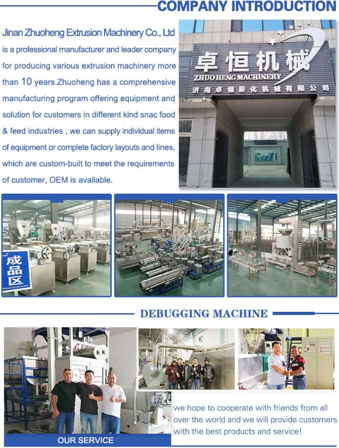 Automatic core filled snack puffed snack processing machine