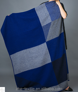 color block Cashmere throw Blanket