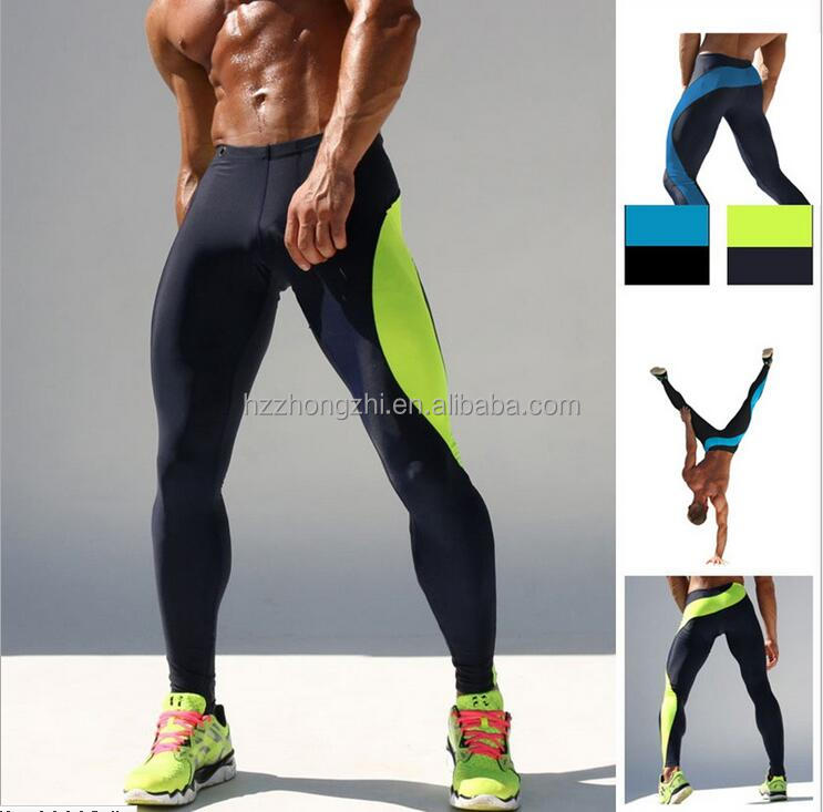 men tight compression dri fit exercise pants sports wear