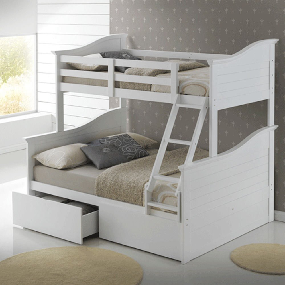 drawers and with pull brand bed asoral trundle kids out cometa