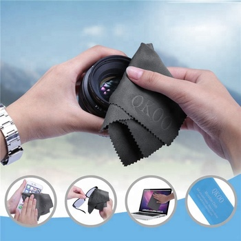 personalized grey mobile phone screen microfiber watch cleaning cloth