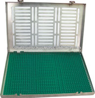 Sterilisation Cassettes Trays with Silicone Pin mat, Tray for ophthalmic eye surgical instrument / Cassettes tray