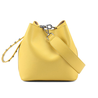 China Factory Cheap Price Free Sample Boxy Leather Bucket Bag Long Strap Shoulder Bag For Girls