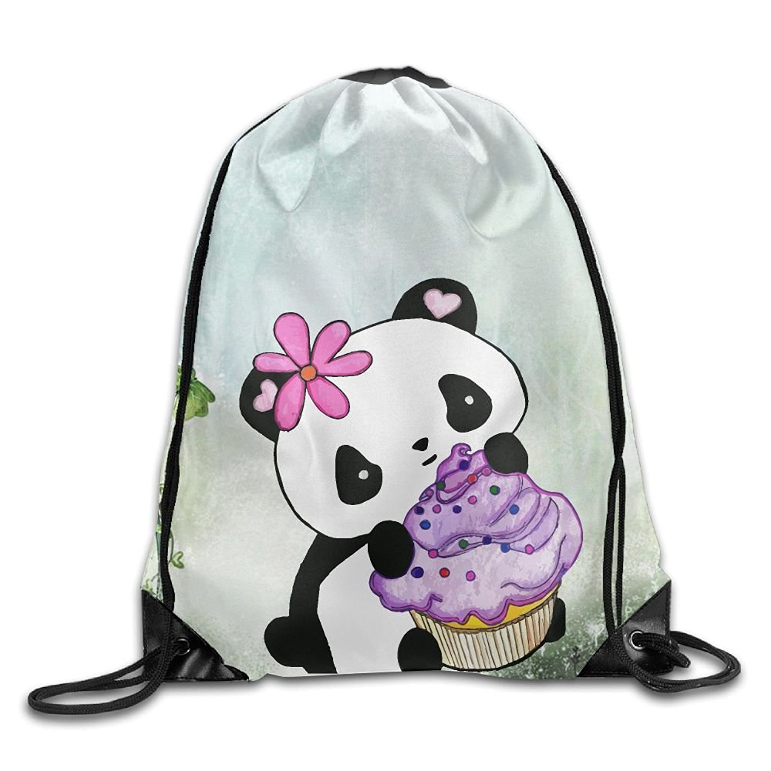 Get Quotations · Panda Bear Cupcake Unisex Drawstring Backpack Travel  Sports Bag Drawstring Beam Port Backpack. c1a3320546c9b