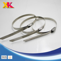 Ex-work price sell good quality ball self-locking stainless steel cable tie/all size plastic zip ties