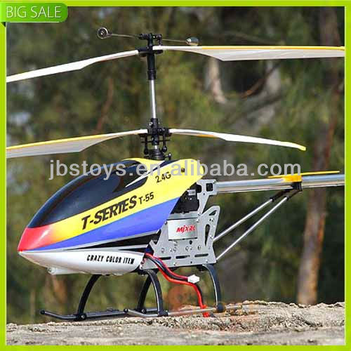 T655 2.4G 3 Channel Remote Control Metal Pro Helicopter