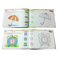 Drawing art book printing with pencils Custom design mini coloring books printing for kids