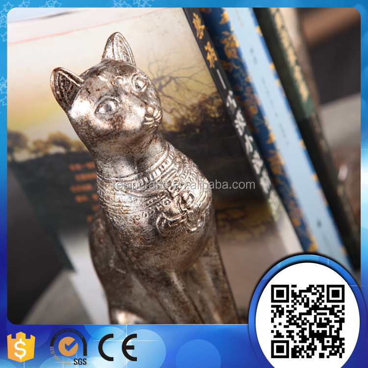 Wholesale Resin Animal Craft Cat Letter Bookends For Study