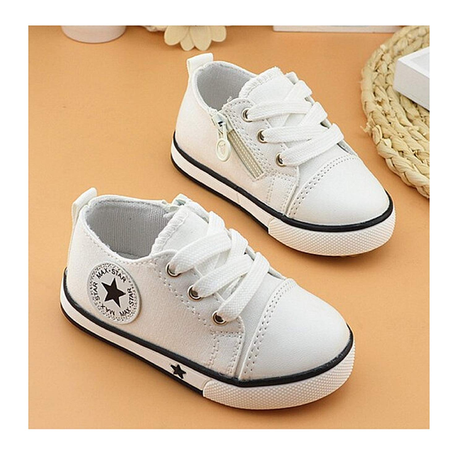 5f22886a9 Get Quotations · Spring Canvas Children Shoes Girl Breathable Sneaker Shoe/Boys  and Girls Not Smelly Feet Soft