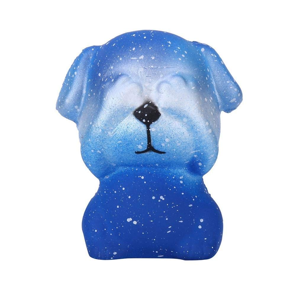 Staron® Squishies Galaxy Dog Slow Rising Jumbo Squishy Toys Kawaii Cute Animals Cream Scented Squishies for Kids Stress Reliever Boys Party Squishy Toys (A)